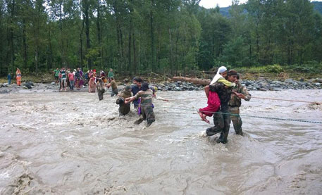 Over 15,000 people have been rescued so far in the state (Credit: Indian Army)
