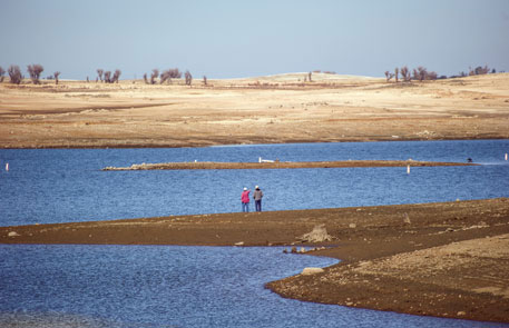 Folsom Lake, which is one of the major water reservoirs of California, has been reduced to just one-fifth of its capacity (Photo: Thinkstock)