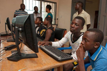 School enrollment rate in Ghana for children aged 6-11 is more than 90 per cent for both boys and girls