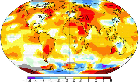 NASA records hottest August since 1880