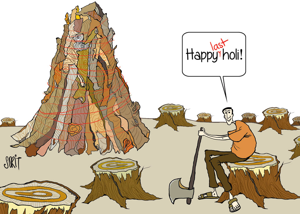 Graphic Editor Sorit Gupto's take on happy last holi