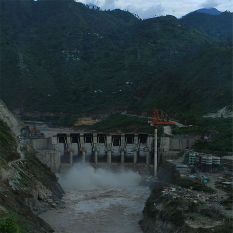 The 330 MW Shrinagar hydropower project on Alkananda river in Pauri district of Uttarakhand. 70 more such projects are planned on the Ganga and its various tributaries