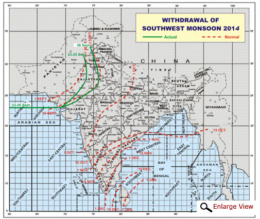 Monsoon begins to withdraw from India