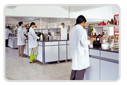 Gland Pharma laboratory. The company specialises in generic injectable drugs (photo courtesy Gland Pharma)