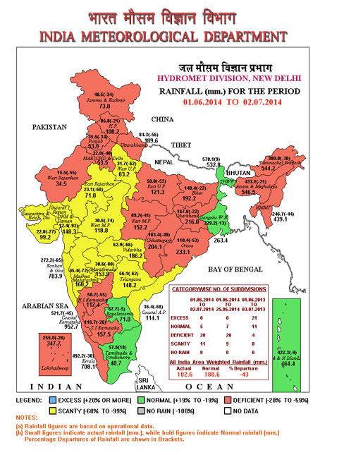Monsoon progresses sluggishly over India
