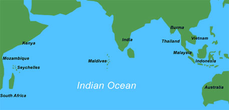 Climate change to almost triple risk of extreme Indian Ocean weather events