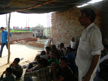 Residents of Kadilpur, sitting in protest against the mosque wall demolition, say Durga Shakti's enmity with SP bigwigs Narendra Bhati and Brijpal Rathi who run a mining empire was well known in the area