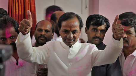 KCR promises people-centric development in Telangana