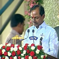 KCR sworn in as first chief minister of Telangana