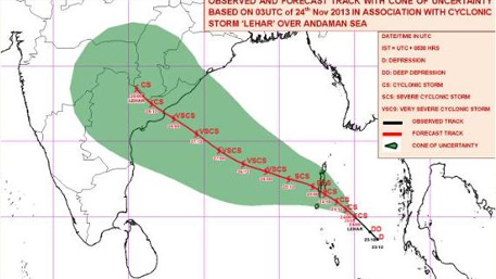 Another cyclone, Lehar, heads for Andhra Pradesh