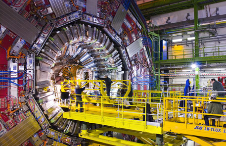Researchers at the Large Hadron Collider for several years have been trying to simulate conditions just after the Bing Bang to see the Higgs boson (Credit: Maximilien Brice)