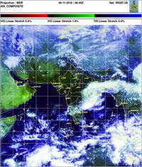Caption: Satellite image courtesy IMD
