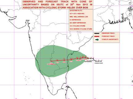 Cyclone Helen likely to hit Andhra Pradesh tomorrow