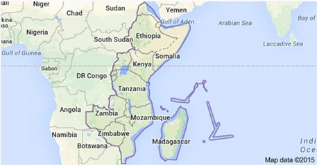 East Africa  (Courtesy: Google Maps)