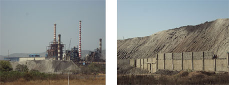 Fly ash dump site within Monnet Ispat and Energy, Raigarh Source: CSE library