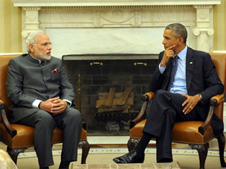Prime Minister Modi during his US visit last year (Photo courtesy PIB)