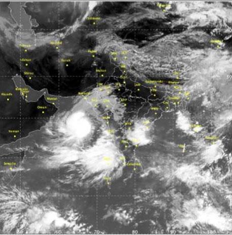ASHOBAA moves away India's west coast (Photo: IMD)