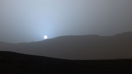 It's a blue sunset on Mars!