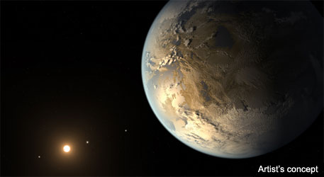 Although the size of Kepler-186f is known, its mass and composition are not. (Photo credit: NASA)