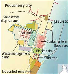 Puducherry port in deep water