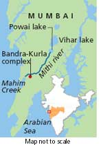 Image result for Mithi River In Mumbai