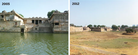 In just seven years, the Sarkhej Roza lake has transformed from a lake to a dry patch of land