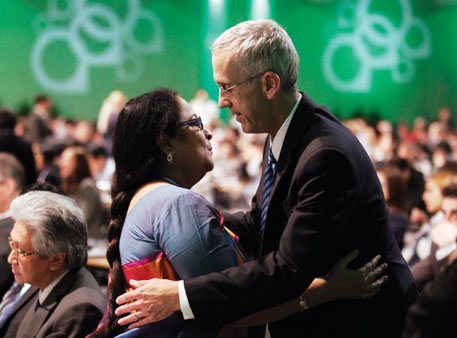 Cold comfort: Indian environment minister Jayanthi Natarajan with US chief negotiator Todd Stern at the closing session