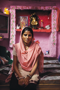 Archana Kumari, 22, lives in a slum in South Delhi. She is pregnant for the third time in six years and is anaemic. Both her children are malnourished