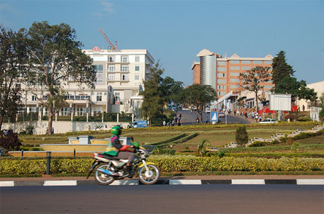Motorcycles are one of the major modes of transport in Kigali, the capital of Rwanda (Photo courtesy: Dylan Walters/Flickr)