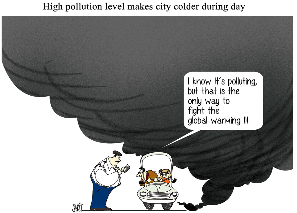 Graphic Editor Sorit Gupto: Pollution and climate change