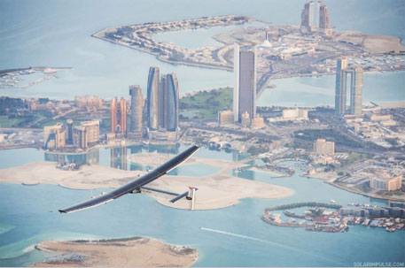 Solar aircraft on world tour obstructed by bad weather