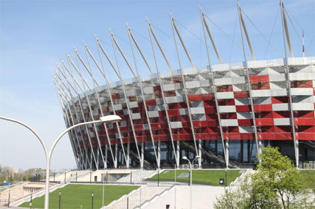 The climate talks are being held at the National Stadium in Warsaw (Source: Ministry of the Environment of Poland)