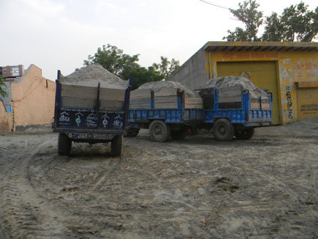 From Atta Gujran the sand is transported to other places