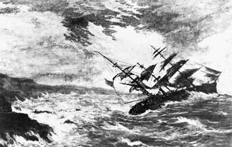 A terrible storm in 1859 that caused the loss of the ship, Royal Charter,  inspired meteorologist, Robert FitzRoy, to develop charts to allow predictions to be made, which he called 'forecasting the weather'