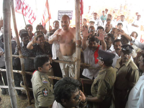 Public hearing for thermal power plant in Andhra Pradesh turns violent