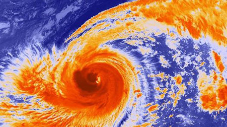 Typhoon Phanfone batters Japan