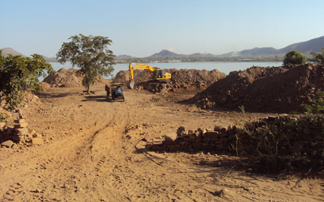 Construction was in full swing in 2011 (Photo by Sanyukta Dasgupta)