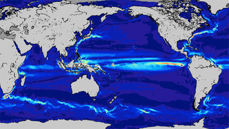 Ocean currents from GOCE (image courtesy ESA)