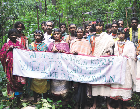 Vedanta's bauxite mining proposal in Niyamgiri hills in Kalahandi has been stiffly opposed by affected tribals and forest dwellers Photo credit - Saroj Mishra