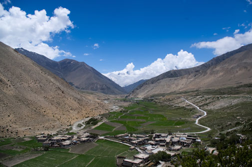 Tibetan part of koshi basin. The Koshi Flood Outlook  being developed by ICIMOD and its national partners in Nepal and India has high potential for saving lives and properties in the basin (photo by Santosh Nepal)