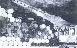 Stockpiling radioactive waste<
