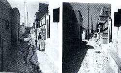 An open drain in Orangi (left)