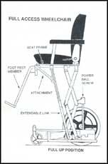 Extendable wheelchair