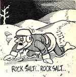 Salt on ice