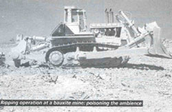 Ripping operation at a bauxite