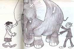 Elephants pit