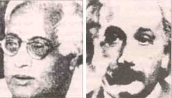 Bose (left) and Einstein