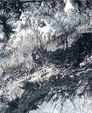 A sorry picture: water erosion (Credit: ISRO / NRSA)