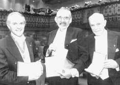 Nobel ones: from left, H Kroto (Credit: AP / PTI)