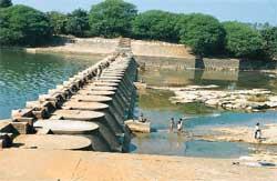 The anicut (small dam) over th